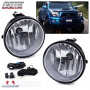 Bumper Fog Lights Driving Lamps + Bulbs Complete Kit Fit For 05-11 Toyota Tacoma