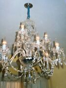 Irish Waterford Chrystal Chandelier - 2 Tier 9 Arms - B9