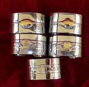 Set 5 Villeroy And Boch Original Napkin Rings Paloma Picasso 18/10 Stainless Steel