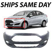 New Primered - Front Bumper Cover Fascia For 2014-2019 Ford Fiesta Sedan/hatch