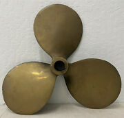Early 20th Century Solid Brass Columbian Maritime Propeller C.1930