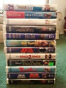 Walt Disney Vhs Movies Lot Of 11 Clamshell Cases Mighty Ducks Parent Trap 4