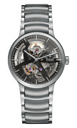 New Rado Centrix Automatic Open Heart St Steel Grey Dial Menand039s Watch R30179113