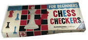 Vintage Halsam Products Co. Chess Checkers For Beginners