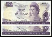 New Zealand - 2 - Hardie And039type 1and039 - Consecutive Pair - 2y5 417815-16 - Unc