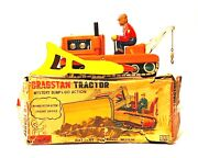 Vintage Japan Waco Cragstan Tractor Tin Toy Battery Operated Damaged Box Used