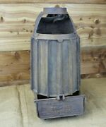 Rare Antique Cast Iron H.m. Sheer Sol-hot Torpedo Poultry Heater Top And Base Pan