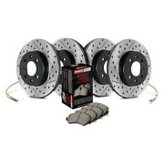 For Volkswagen Gli 10 Sport Drilled And Slotted 1-piece Front And Rear Brake Kit