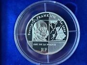France 2006 Benjamin Franklin 5 Oz Silver Proof Coin Rare Very Low Serial 96/500