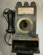 Rare Very Early Gray 23d Paystation, With Coin Reject Pocket Slot Rare