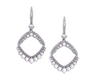 2.50ct Natural Diamond G-h Beautiful Chandelier Earring 14kt White Gold Si1