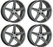 4 Alloy Wheels Oxigin 21 Oxflow 9x21 Et35 5x112 Titan For Skoda Superb