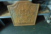 Large Cast Iron Plate Door Fireplace Cover Rusty Surface Steampunk 62 Lbs