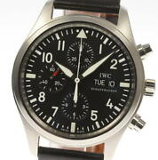 Pilot Iw371701 Chronograph Black Dial Automatic Menand039s Watch_575158