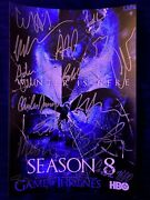 Game Of Thrones Cast Signed Autographed 8x12 Photo Kit Harington Peter Dink Coa