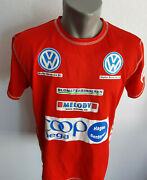 Norge Racing Fan Mens T-shirt Red Vw Coop Mega Audi Size M Tracker Norway