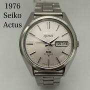 Seiko Actus Automatic 6306-8020 Day/date Vintage Men's July 1976 Fe0