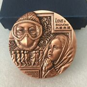 China 80mm Copper Medal Love Is Boundless Fighting The Epidemic Medal