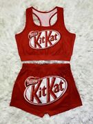 New Candy Snack Top And Shorts Stretchy S-2xlsnikerskit Katbarbiewapgusher
