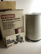 Waring Ice Cream Parlor Vintage Electric Ice Cream Maker 11cf10 Complete Set
