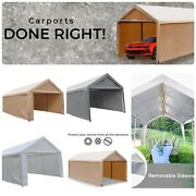🎪 Outdoor Xl Canopy Carport Tent Car Shelter Garage Storage Shed Sun Uv Proof