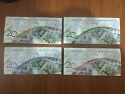 Transnistria Set 20 Years Of National Currency 4 Banknotes
