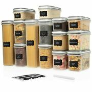 Large Set 28 Pc Airtight Food Storage Containers W/ Lids 14 Container Set 59