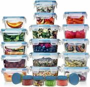 Huge Set 32 Pack Food Storage Containers W/lids - Plastic Food Containers 39