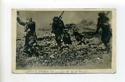 France - Antique Rppc Photo Postcard, Wwi, Soldiers, Attack Staged 2nd Division