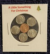 A Little Something For Christmas - Mini Obsolete U.s. Coins Set In Holder