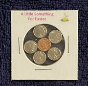 A Little Something For Easter - Mini Obsolete U.s. Coins Set In Holder