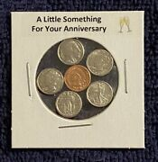 A Little Something For Your Anniversary - Mini Obsolete U.s. Coins In Holder