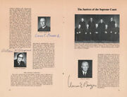 The Warren E. Burger Court - Pamphlet Signed Circa 1973 With Co-signers