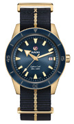 Rado Captain Cook Automatic Bronze Blue Dial Nato Band Menand039s Watch R32504207