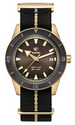 Rado Captain Cook Automatic Bronze Brown Dial Nato Band Menand039s Watch R32504307