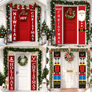Santa Claus Elf Banner Christmas Ornaments Decorations For Home 2021 Xmas Gifts