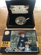Two Sisters On The Terrace Renoir Micropuzzle Treasures 3 Oz Silver Coin