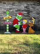 Stealing The Christmas Lights Whoville Max Reindeer Cindy Lou Yard Art