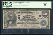1902 50 The Merchants National Bank Of Massillon, Oh Ch. 4286 Pcgs Vg-10