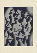Mark Kostabi Merger And Acquisitions, 1988 Signed 39 X 27.5 Lithograph 1989