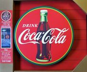 Drink Coca-cola In Bottles Backlit Boxtop Led Metal And Wood Sign - Ice Cold Coke