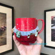Starbucks 2020 China Red Christmas Sweater Badge Ss Coffee Cup 12oz New