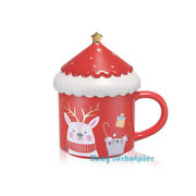 Starbucks 2020 China Elk Mouse Red Ceramic Mug 10oz Cover Band Coffee Cup Gift