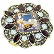 Heidi Daus Elegant Know-how Multi Color Crystal-accented Ring Size 7