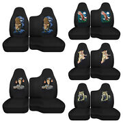 Car Seat Covers Black W/dragon/skull Fits 98-03ford Ranger 60/40 Bench Seat