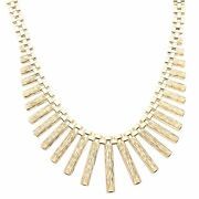 Vintage 9carat Yellow Gold 15 Gate Link Cleopatra Necklace 27mm Widest