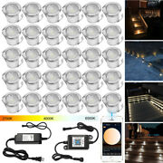 Ww+w+cw 3in1 30mm 12v Outdoor Yard Path Stairs Patio Led Deck Floor Lights Ip67