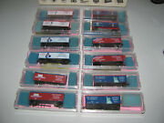 Vintage Roundhouse N-scale Assorted 929 36 Usa Boxcars X 12 Nos Item As Shown