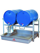 Alemlube Drum Spill Contain Rack 2 X 205 Litres. Corrosion Resistant 76800
