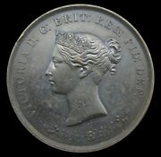 India 1865 Victoria Nagpore Exhibition Of Arts 43mm Medal - By Wyon